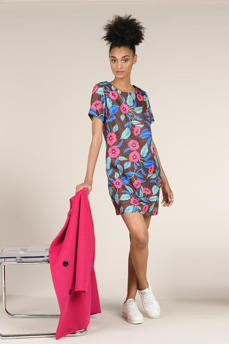 Robe Courte Imprime Floral Nouveautes Robes Jupes Bevivamode